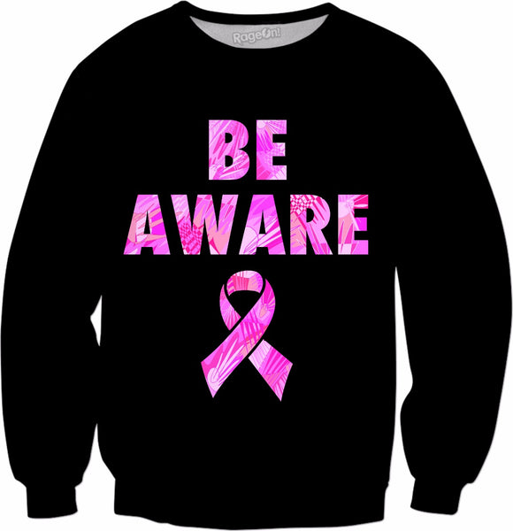 Be Aware Breast Cancer Awareness Crewneck Sweatshirt