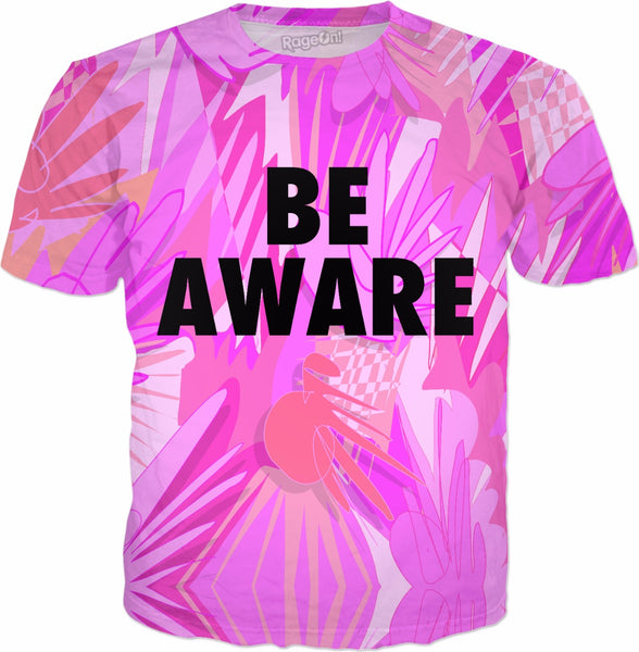 Be Aware Pink Breast Cancer Awareness T-Shirt