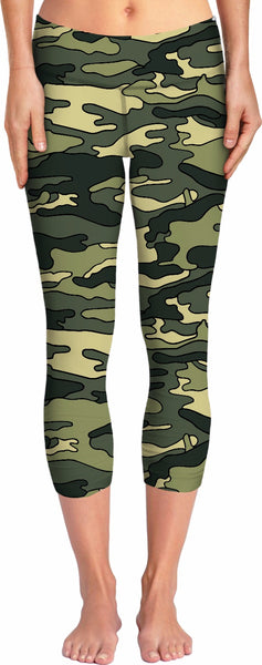Green Camo Yoga Pants