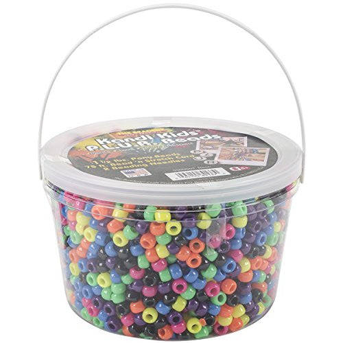 The Beadery Ultra Kandi Rave Bead Neon Bucket, Multicolor