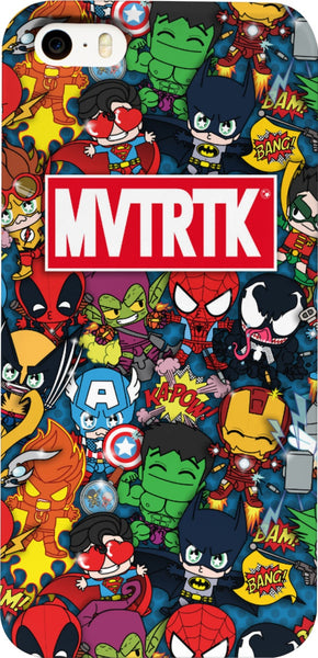 MVTRTK SUPER HEROES  iPhone Case & Galaxy Case