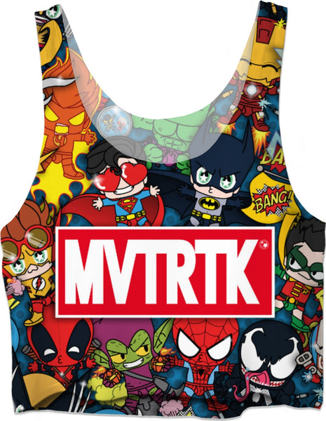 MVTRTK SUPER HEROES Crop Top