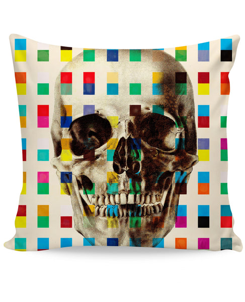 White Skull Couch Pillow