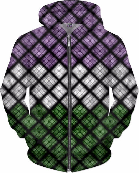 Genderqueer Diamond Scales Pattern
