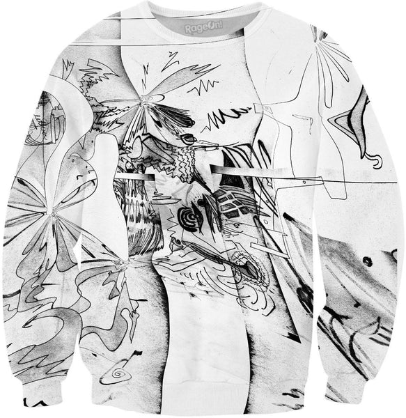 Abstract Elastic Sweatshirt