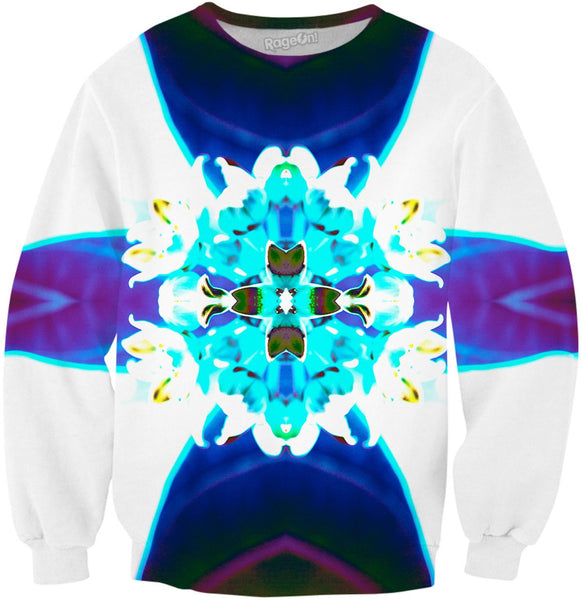 Blue Flower Reflect Sweatshirt