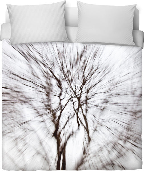 Abstract Snow Tree 1 Duvet Cover