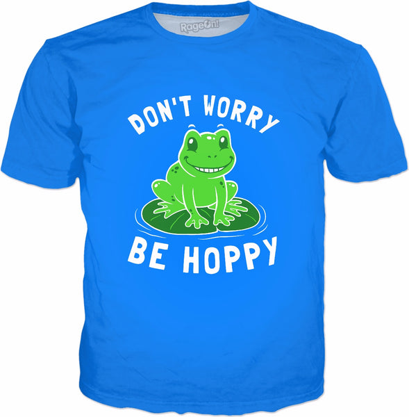 Don't Worry Be Hoppy T-Shirt - Cute funny Frog