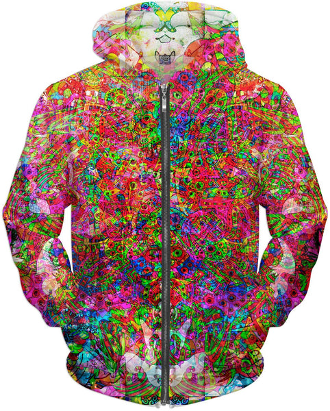 Neon Swirl Party Extravaganza Hoodie