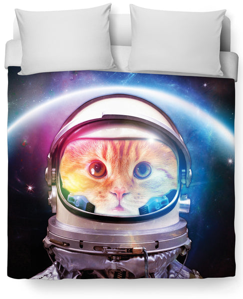 Space Cat Duvet Cover
