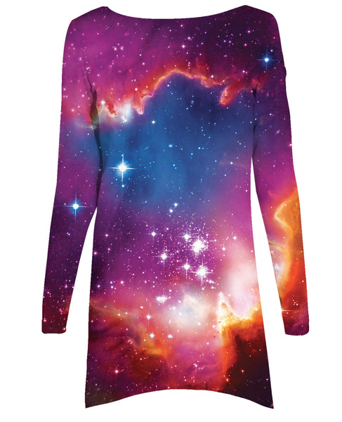 Cosmic Forces Long-Sleeve Dress