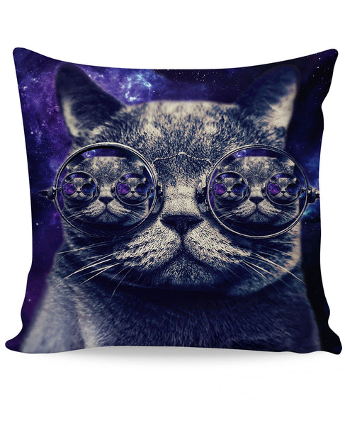 Hipster Cat Couch Pillow