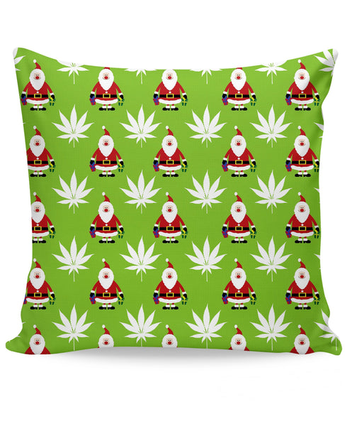Green Christmas Couch Pillow