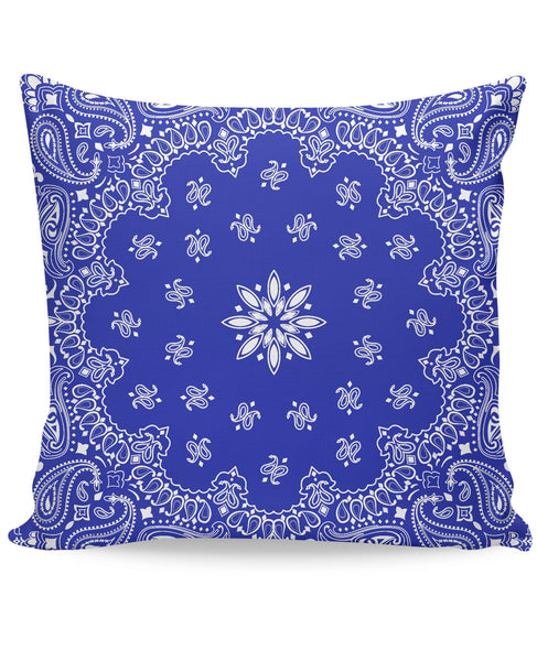 Blue Bandana Couch Pillow