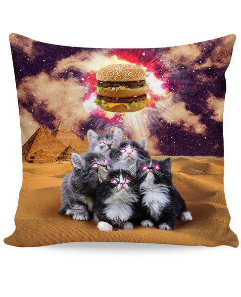 Worship the Burger Couch Pillow