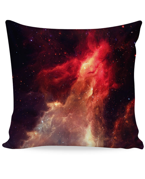 Crimson Nebula Couch Pillow