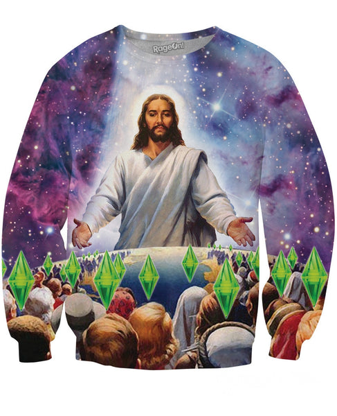 Jesus Died For Your Sims Crewneck Sweatshirt