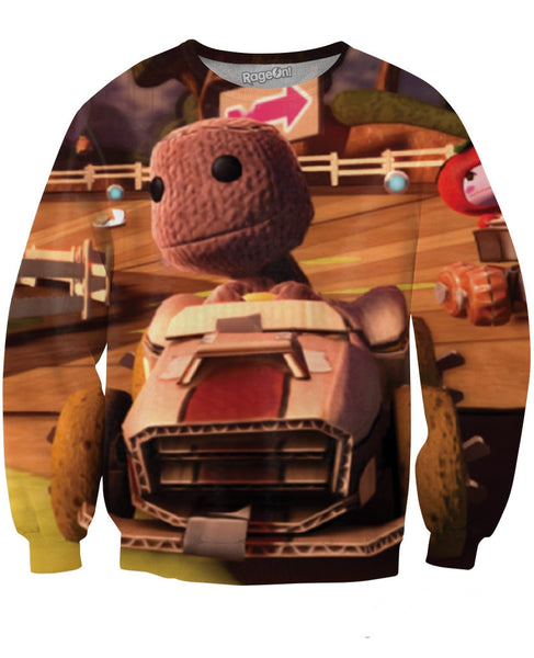 Little Big Planet Karting Crewneck Sweatshirt