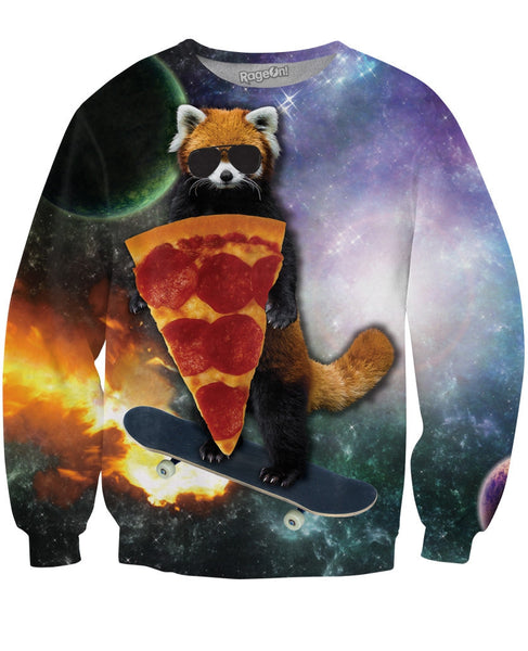 Red Panda Pizza Bandit Crewneck Sweatshirt