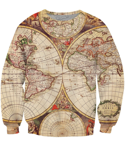 Old Map Crewneck Sweatshirt