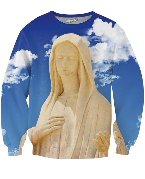 Virgin Mary Crewneck Sweatshirt