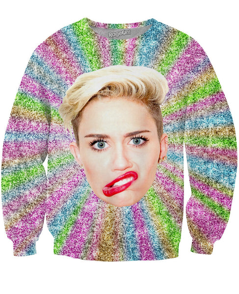 Miley's Face Crewneck Sweatshirt