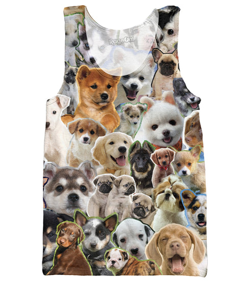 Puppies Collage Tank Top
