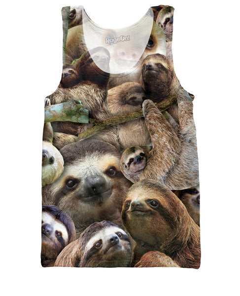 Sloth Collage Tank Top