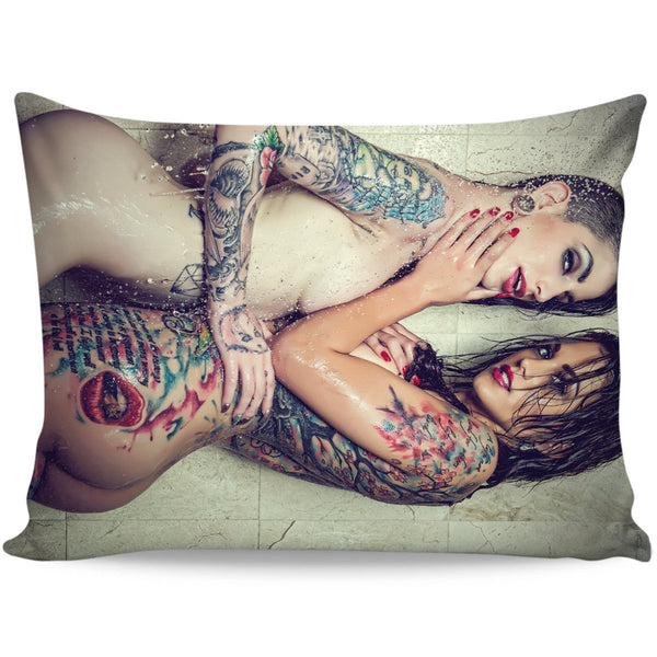 Nikki Nichole Choking Sheena Rose Pillow Case