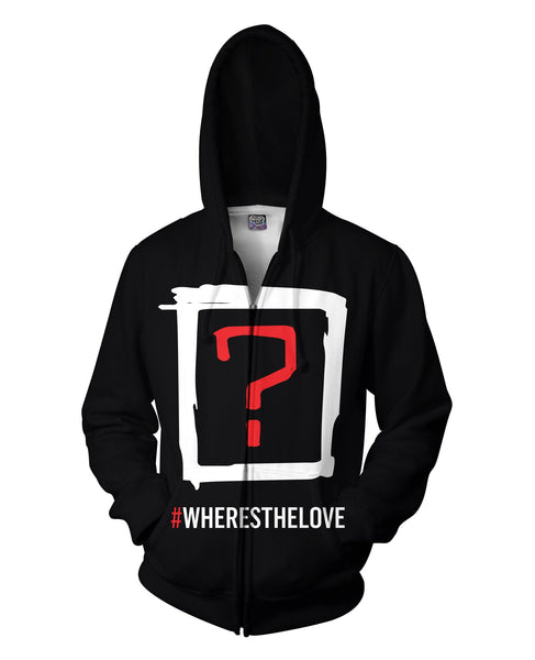 Black Eyed Peas Where's the Love v2 Double Sided Hoodie