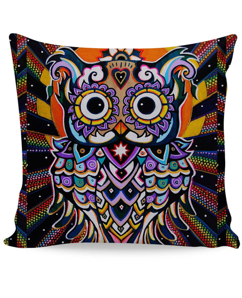 Radiant Owl Couch Pillow