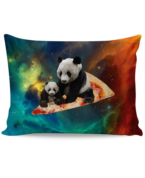 Space Pizza Panda Pillow Case