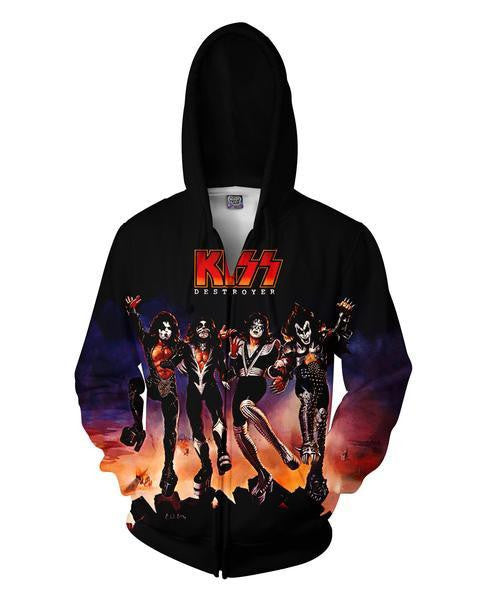 KISS Destroyer Zip Hoodie