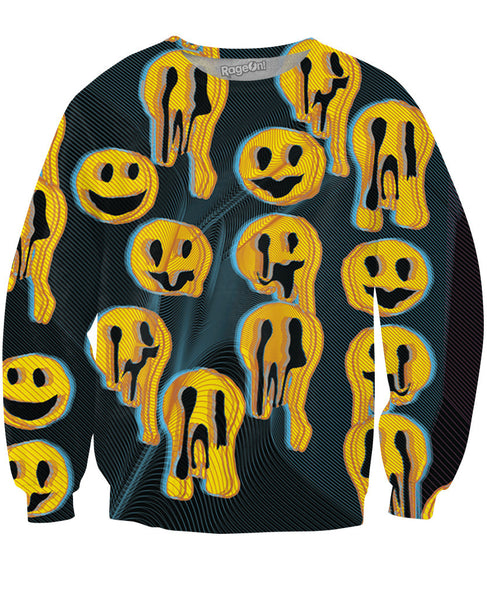Black Wax Smile Crewneck Sweatshirt
