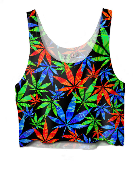 Weeds 3D Crop Top