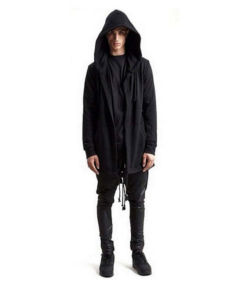 Gold Zipper Hooded Cloak