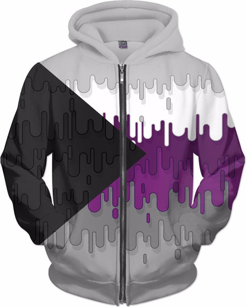 Demisexual Abstract Drips Flag