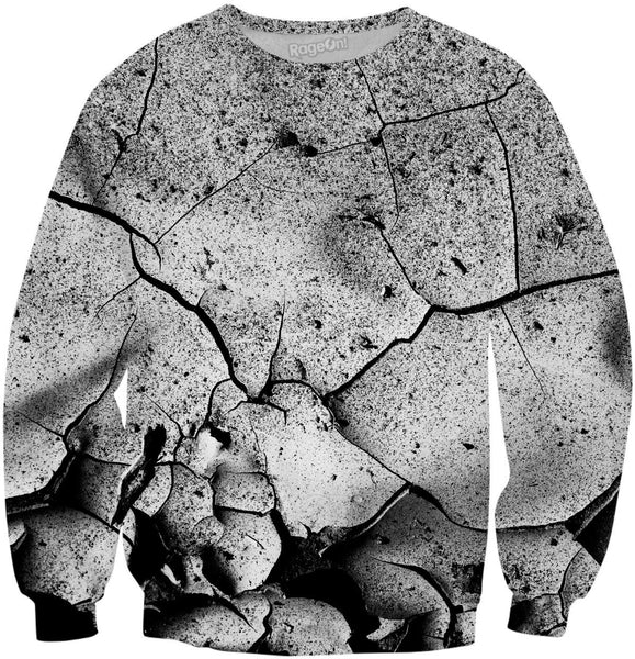 Abstract Cracks Sweatshirt
