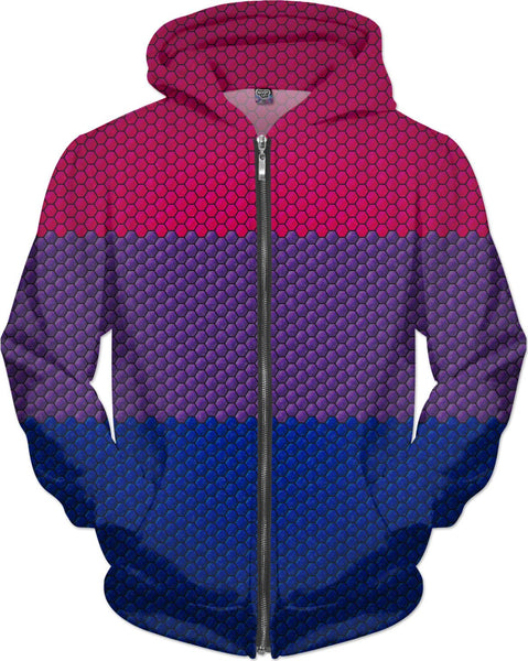 Bisexual Hexagon Flag Pattern