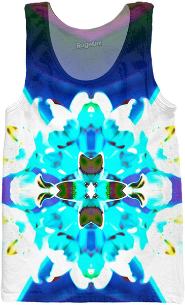 Blue Flower Reflect Tank Top