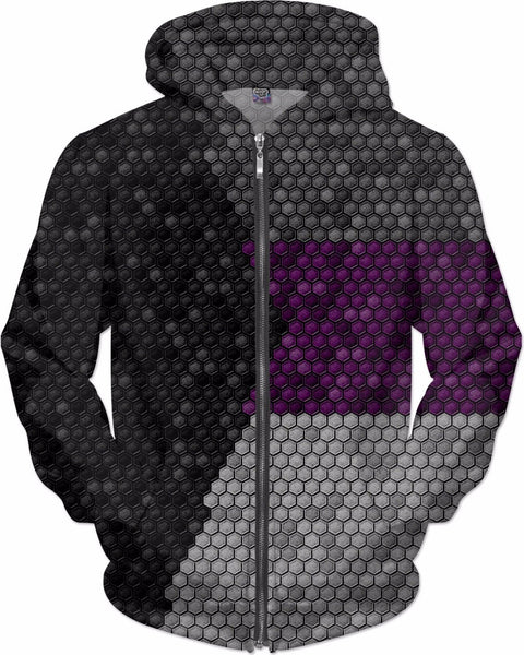 Demisexual Honeycomb Flag Pattern