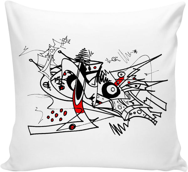Red And Black Abstract 1 Couch Pillow