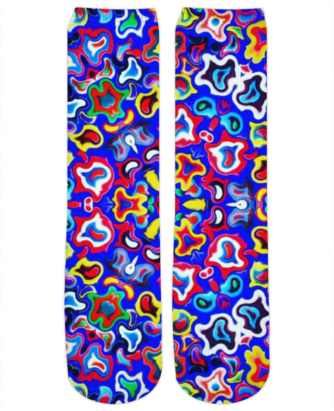 Fractal Fruit Crew Socks