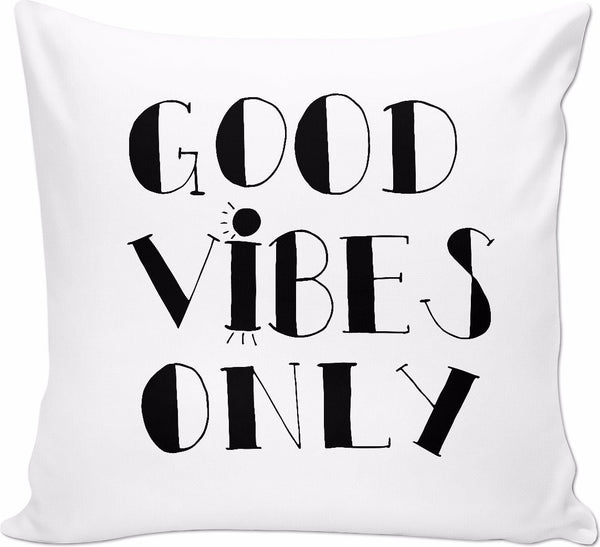 Good Vibes Only Black Pillow