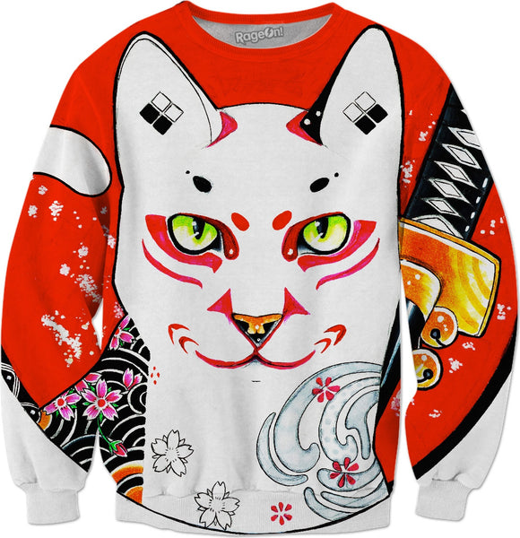 Cat Samurai Sweatshirt