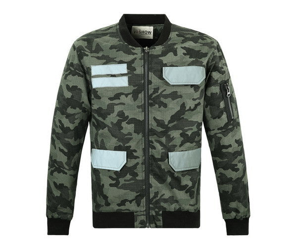 VIISHOW Brand Jacket Men Winter Camouflage Jacket Cargo Jacket Mens Cardigan Jacket  Windbreaker Coat Men M120954