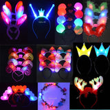 Woman Girl Light-Up headband garland Flashing Hair Accessories Hair Band LED Lighting Rave Event Party Christmas New Year Gift