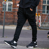VIISHOW Pants Men Cargo Big Size Black Trouser Hip Hop Pocket Zipper Design Brand Long Trousers Casual Pants KC10863