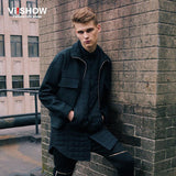 VIISHOW Winter Brand Casual Jacket Men Zipper Slim Fit Classic Business Jacket Cargo Baseball Jacket Coats J109453