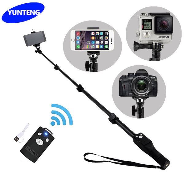 For Gopro Dslr Camera IOS Android Phone Selfie Stick Yunteng 1288 Bluetooth Extendable Handheld Yt-1288 Tripod Monopod VS 188